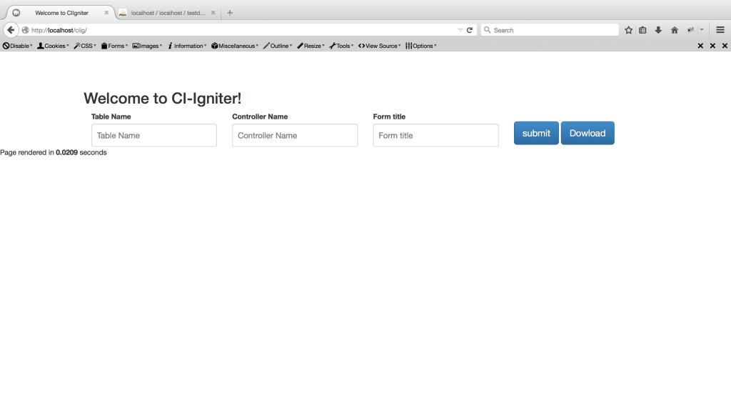 CIIG | codeigniter CRUD generator - shabeeb Blog